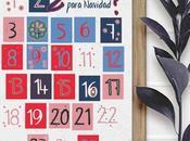 Imprimibles para niños: calendario adviento 2017