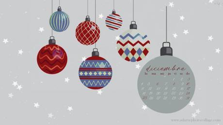 free christmas december calendar wallpaper