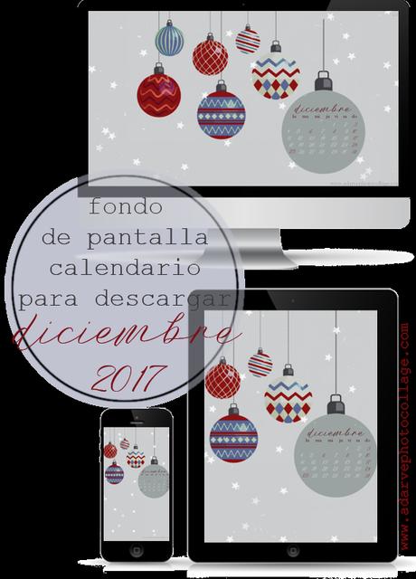 Fondo de pantalla calendario diciembre 2017