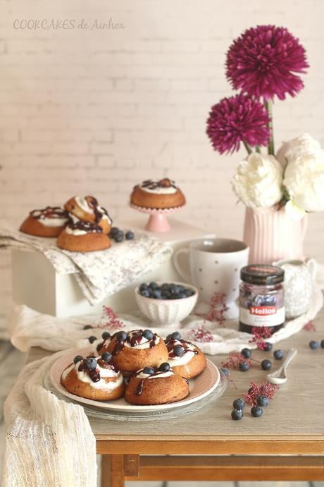 Blueberry Cheesecake Rolls. Cookcakes de Ainhoa