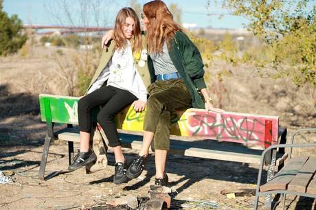 compartiendo zapatillas