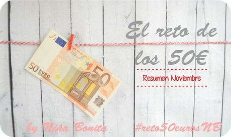 Reto de los 50 euros - Resumen noviembre