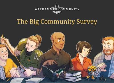 Encuestas, trofeos y mas en Warhammer Community hoy