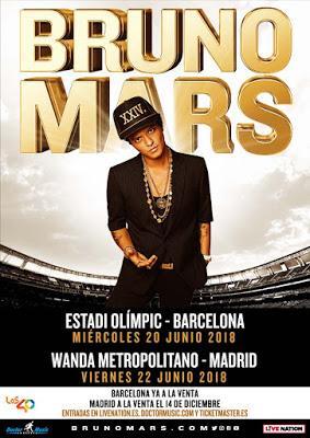Bruno Mars vende 34.288 entradas en dos horas para su concierto en Barcelona