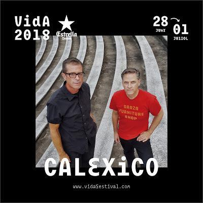 El Vida Festival 2018 tendrá a Calexico (que estrenan avance de su próximo disco)