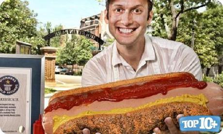 Hotdog mas grande del mundo-entre-las-comidas-mas-grandes-del-mundo