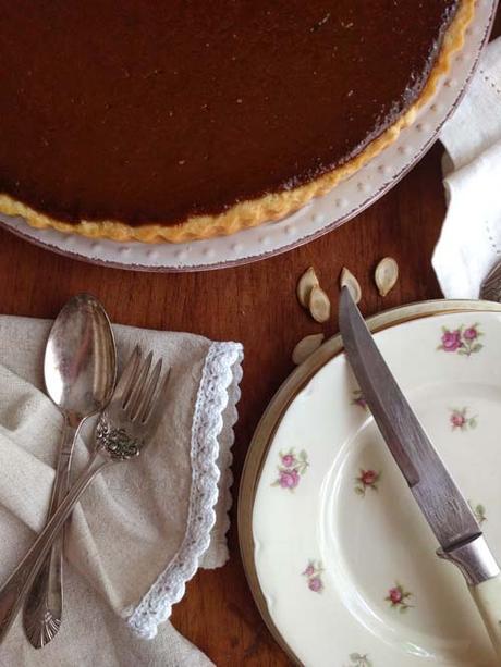 pumpink pie | tarta de zapallo dulce