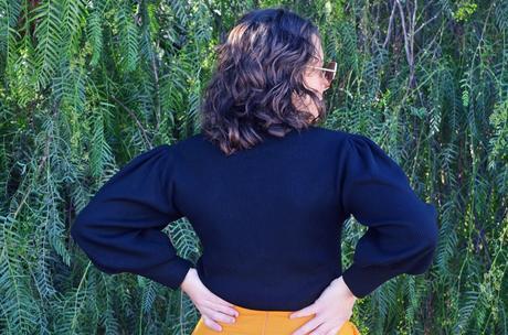 Jersey bordado mangas abullonadas