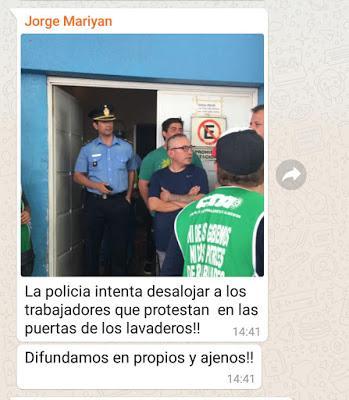 Represión en Neuquén por manifestación de ATE