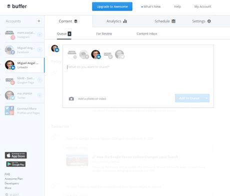 Buffer - El Blog de MAM: 14 herramientas para automatizar tus publicaciones en medios sociales