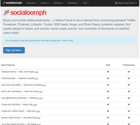 Social Oomph - El Blog de MAM: 14 herramientas para automatizar tus publicaciones en medios sociales