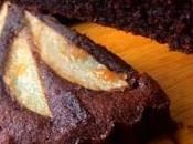 Pastel chocolate pera