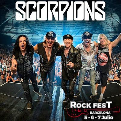 Scorpions, último cabeza de cartel del Rock Fest Bcn 2018