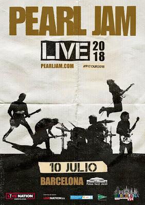 Pearl Jam actuarán en el Palau Sant Jordi de Barcelona y el Mad Cool Festival 2018