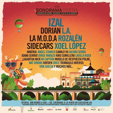 Sonorama 2018: Izal, Dorian, L.A., La M.O.D.A., Rozalén, Sidecars, Xoel López, Rayden...