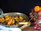 Pollo salsa mandarinas uvas