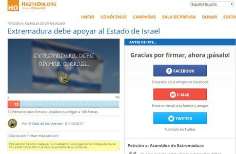 Extremadura, debe estar con el estado de Israel.