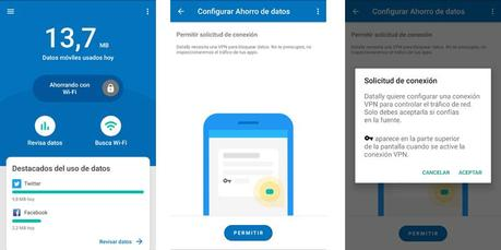 Ahorrar datos con Datally