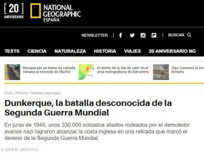 20 IMÁGENES DE NATIONAL GEOGRAPHIC SOBRE  LA OPERACIÓN DINAMO (RETIRADA Y EVACUACIÓN TROPAS BRITÁNICAS EN DUNKERKE) EN LA SEGUNDA GUERRA MUNDIAL.