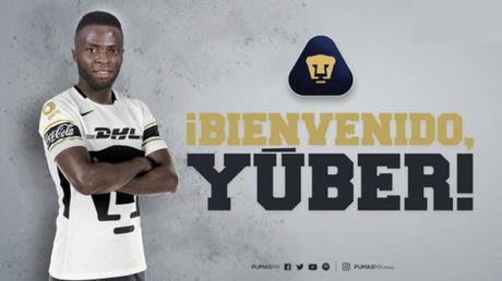 Yuber Asprilla es oficialmente jugador de Pumas