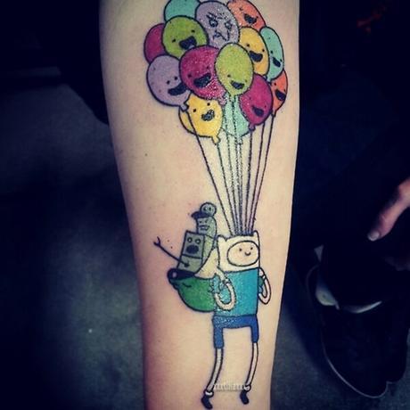 33 divertidos tatuajes de Dibujos animados