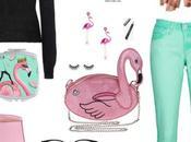 Flamingo mirror below!