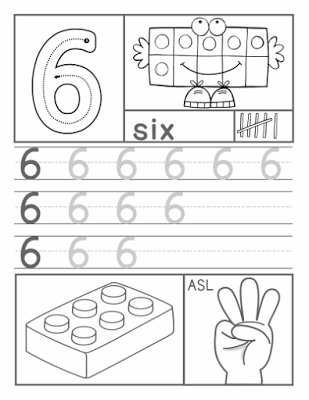 Hojas de ejercicio con los Números en ASL (American Sing Language ...