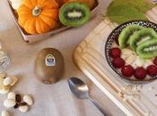 Merienda saludable kiwi almendras