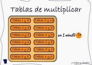 10 juegos para aprender y practicar las tablas de multiplicar