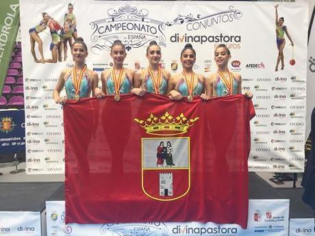 El conjunto Júnior del Club Gimnasia Rítmica Dos Hermanas se proclamaba Campeón de España