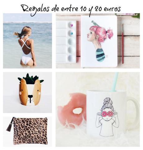 ideas de regalos de entre 10 y 20 euros