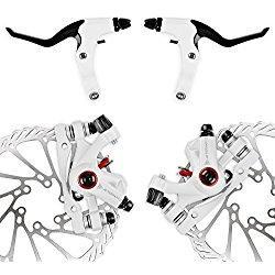 NV-5 G3 / HS1 Juego de frenos de disco de bicicleta delantero y trasero (NV-5 G3 Kit blanco con mango)