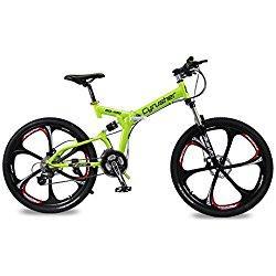 Cyrusher RD100Shimano M310Altus Bicicleta de montaña plegable, suspensión completa, 24velocidades, 17 x 26