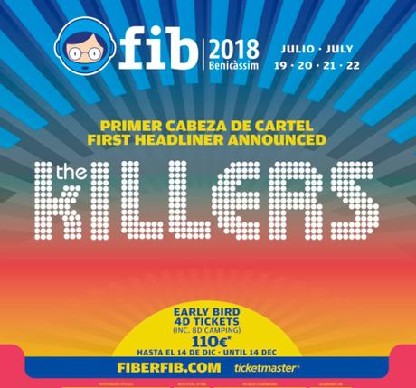 FIB 2018: The Killers, primer cabeza de cartel confirmado.
