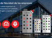 Cena empresa Navidad: organizar evento corporativo Cataluña cuesta 120% Madrid
