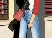 cuello perkins tricolor jeans rectos mocasines
