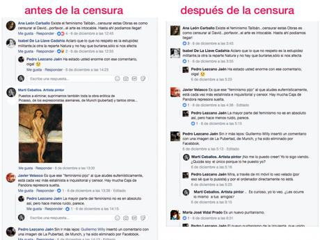 Censura en el arte y en facebook