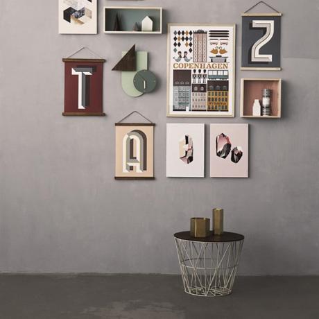 muebles de diseño muebles daneses marca danesa diseño nórdico diseño danés Cesta alambre Wire de Ferm Living cesta alambre mesa almacenaje de diseño
