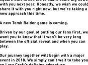 Square Enix confirma desarrollo nuevo Tomb Raider