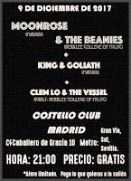 Concierto de Moonrose, & The Beanies, King & Gooliath y Clem lo & The Vessel en Costello Club