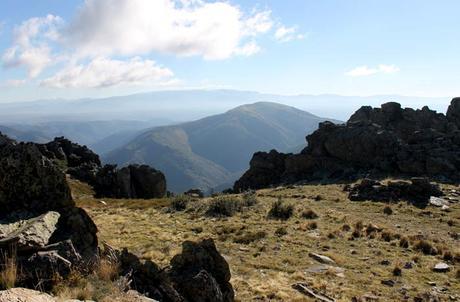 Vista de la sierra Quilama llegando a la Cueva de la Mora