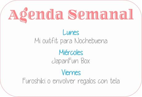 Agenda Semanal 11/12 - 17/12