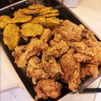 Pollo frito caribeño