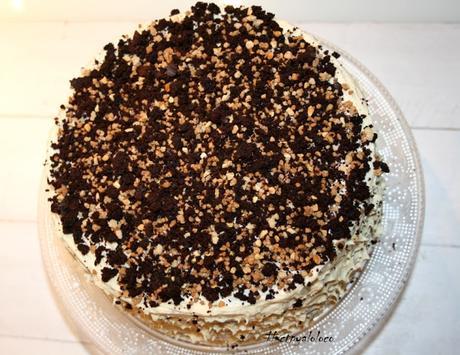 Layer cake de chocolate y crema de vainilla