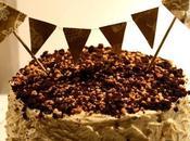 Layer cake chocolate crema vainilla