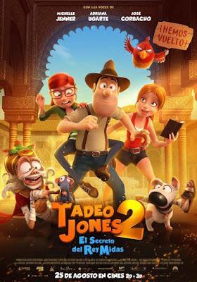 Cine, cartelera, película, cartel, Tadeo 2, El Secreto del Rey Midas, Cinesa, animación, aventuras, secuela,  nos vamos al cine,