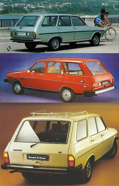 Las versiones de la Break del Renault 12