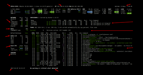 glances summary monitorization