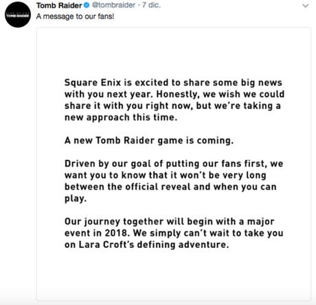 Se filtra el nombre de la última entrega de Tomb Raider