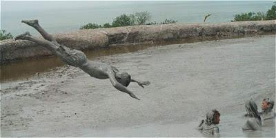 Nadar en el barro